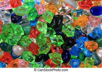 plastic color beads texture