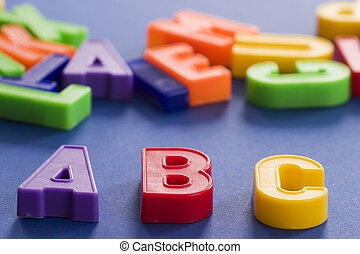 letters - plastic colored letters with some letters out of...