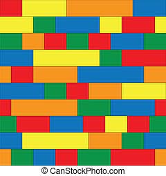 Plastic construction blocks seamless background