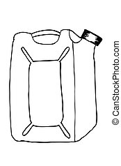 plastic container - hand draw sketch white plastic container...
