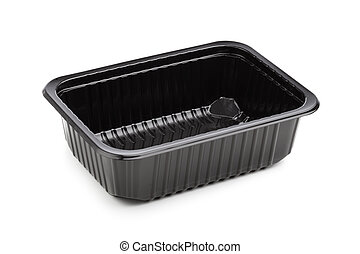 plastic container isolated on white