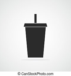 Plastic cup icon. Vector illustration.
