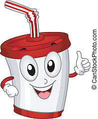 Plastic Cup Mascot - Mascot Illustration Featuring a Plastic...