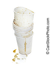 plastic cup of coffee dring beverage food office spilled messy