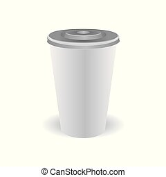 Plastic cup of coffee with lid - Plastic cup of coffee with...