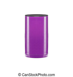 plastic cup on white background