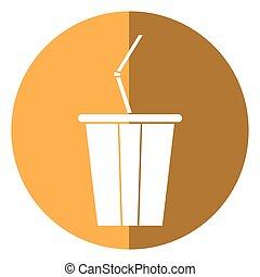 plastic cup soda with straw drink american football shadow