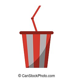plastic cup soda with straw drink american football