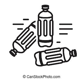 Plastic Disposable Bottle Clutter - Icon as EPS 10 File