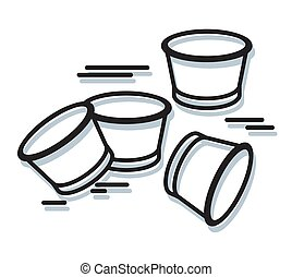 Plastic Disposable Coffee Cup Clutter - Icon as EPS 10 File