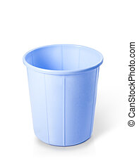 Plastic dust bin isolated over white background