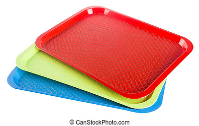Plastic empty tray on a background - Tray. Plastic empty...