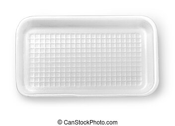 Plastic food box isolated