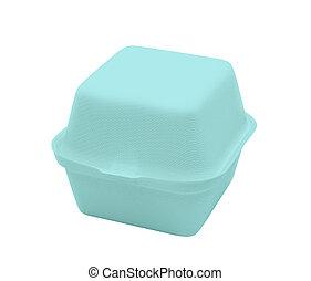 Plastic food box isolated on white
