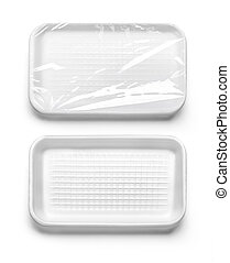 Plastic food box isolated