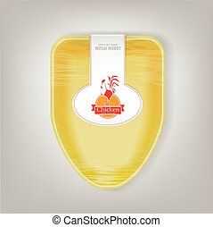Plastic Food Container for Chicken. Yellow