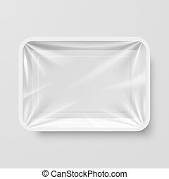 Plastic Food Container - Empty White Plastic Food Container...