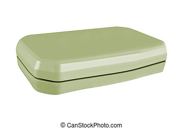 Plastic food container isolated