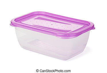 plastic food storage containers on a white