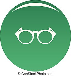 Plastic frame icon vector green