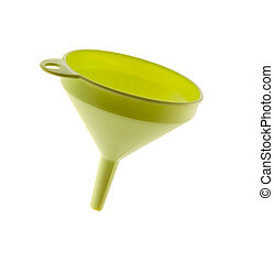 plastic funnel isolated on white background