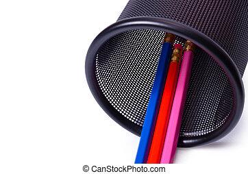 Plastic glass for pencils