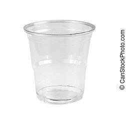 Plastic Glass isolated on white background