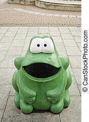Plastic green frog