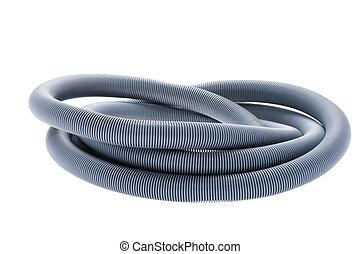 object on white - isolated plastic hose