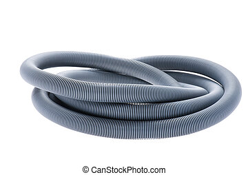 plastic hose on white - object on white - isolated plastic...
