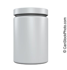Plastic Jar Bottle isolated on white background. 3D render