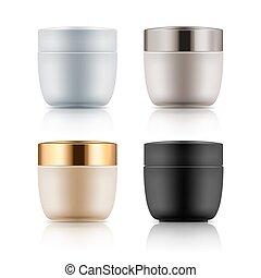 Plastic jar for cosmetic cream