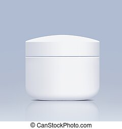 plastic jar for cosmetics
