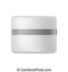 Plastic jar for cream
