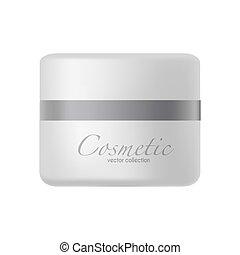 Plastic jar with cosmetic cream