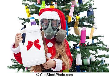 plastic, kerstmis