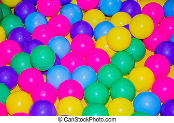 plastic, kleur, balls.