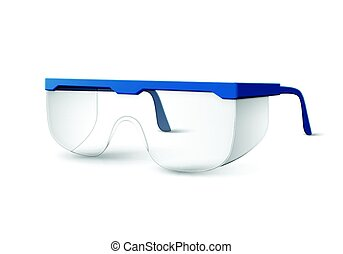 Plastic laboratory glasses