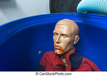 Plastic man in the bin