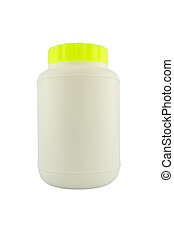 Plastic medical container for pills or capsules