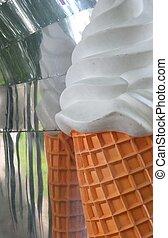 Plastic Model Ice Cream On Vintage Ice Cream Truck