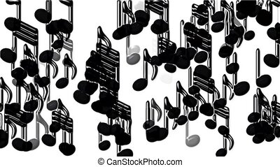 Plastic Music Notes and treble clef.
