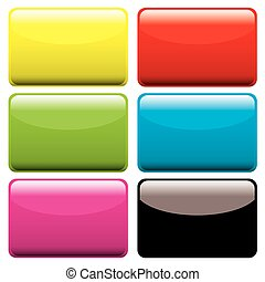 plastic oblong blank - Six gel filled oblong icons with...