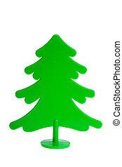 Plastic pine fir tree