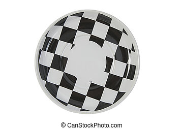 Plastic plate on white background