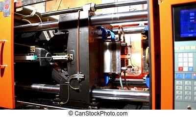 plastic press molding machine time lapse