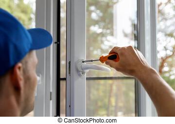 plastic pvc window installing and maintenance service