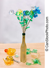 plastic recycling - creative recycling - flowers made from ...