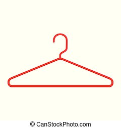 Plastic Red Hanger vector icon isolated on white background