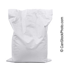 Plastic sack - White plastic sack isolated on white